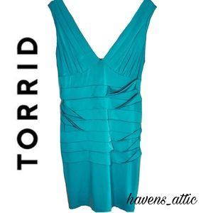 Teal Cocktail Dress Blue-Green by Torrid